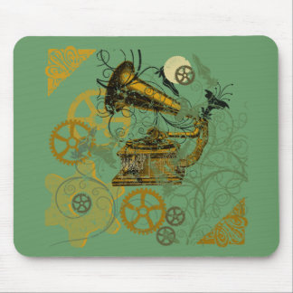 Distressed Look Steampunk Design Mousepads