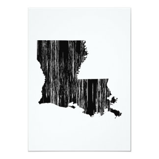 Distressed louisiana State Outline Card