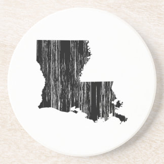 Distressed louisiana State Outline Drink Coaster