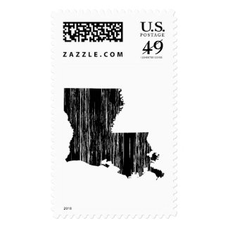 Distressed louisiana State Outline Stamp