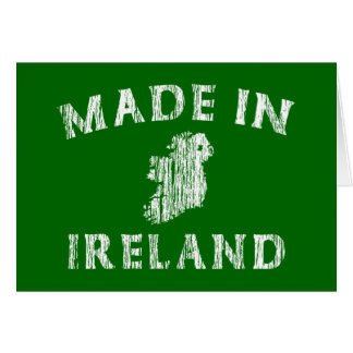 Distressed Made In Ireland Greeting Card