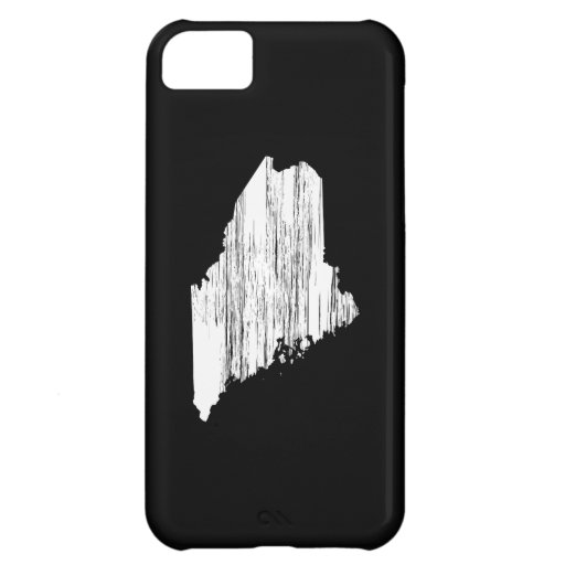 Distressed Maine State Outline Cover For iPhone 5C