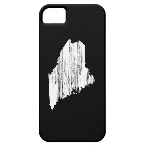 Distressed Maine State Outline iPhone 5 Cases