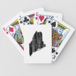 Distressed Maine State Outline Bicycle Playing Cards