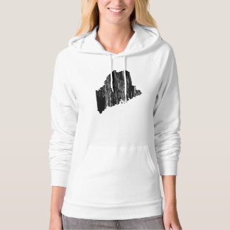 Distressed Maine State Outline Pullover