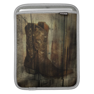 Distressed Man Cave Western Country Cowboy Boot iPad Sleeve