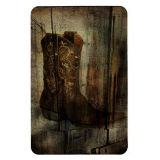 Distressed Man Cave Western Country Cowboy Boot Magnet