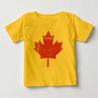 Distressed Maple Leaf Canada Baby T-Shirt
