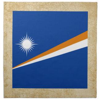 Distressed Marshall Islands Flag Napkins
