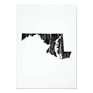 Distressed Maryland State Outline Card