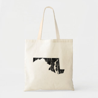 Distressed Maryland State Outline Tote Bag