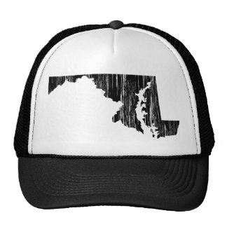 Distressed Maryland State Outline Trucker Hat