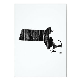 Distressed Massachusetts State Outline Card