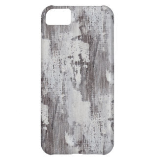 Distressed Maui Whitewashed Oak Wood Grain Look Cover For iPhone 5C