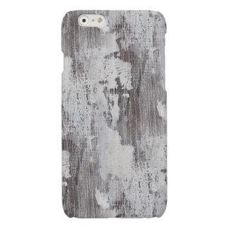 Distressed Maui Whitewashed Oak Wood Grain Look Glossy iPhone 6 Case