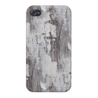 Distressed Maui Whitewashed Oak Wood Grain Look iPhone 4 Cases
