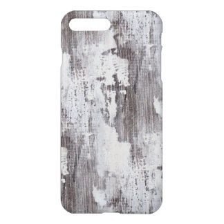 Distressed Maui Whitewashed Oak Wood Grain Look iPhone 7 Plus Case