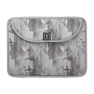 Distressed Maui Whitewashed Oak Wood Grain Look Sleeves For MacBook Pro