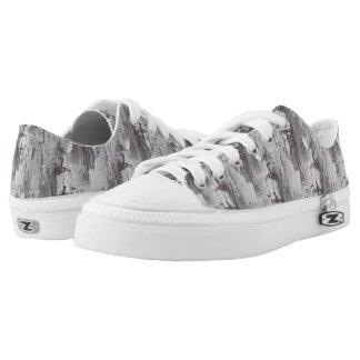 Distressed Maui Whitewashed Oak Wood Grain Look Printed Shoes