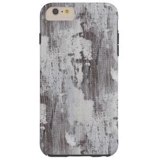 Distressed Maui Whitewashed Oak Wood Grain Look Tough iPhone 6 Plus Case