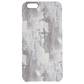 Distressed Maui Whitewashed Oak Wood Grain Look Uncommon Clearly™ Deflector iPhone 6 Plus Case