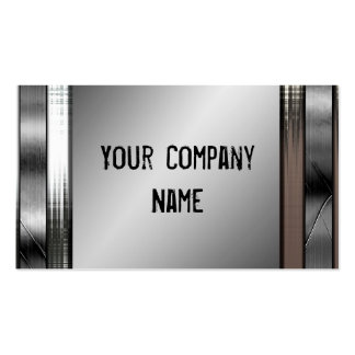 Distressed Metal Look Cool Business Cards