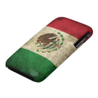 Distressed Mexican Flag iPhone 3 Covers