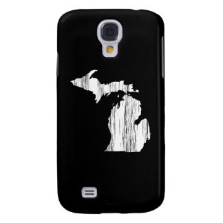 Distressed Michigan State Outline Galaxy S4 Cases