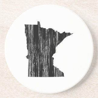Distressed Minnesota State Outline Sandstone Coaster