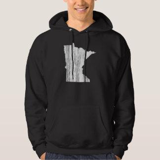 Distressed Minnesota State Outline Sweatshirt