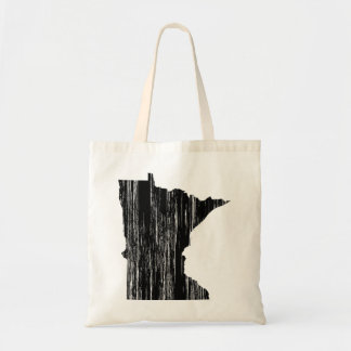 Distressed Minnesota State Outline Tote Bag