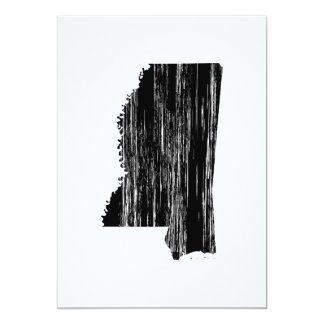 Distressed Mississippi State Outline Card