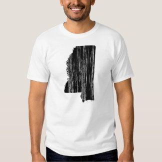 Distressed Mississippi State Outline Tee Shirt