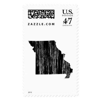 Distressed Missouri State Outline Postage