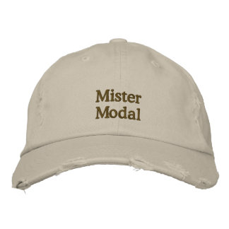 "Distressed ""Mister Modal"" cap Embroidered Baseball Caps"