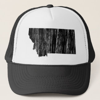 Distressed Montana State Outline Trucker Hat