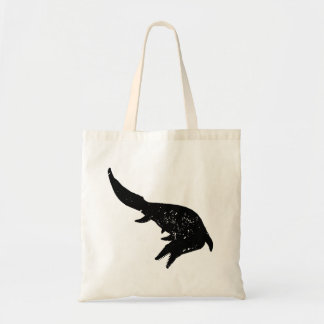 Distressed Mosasaurs Giganteus Silhouette Budget Tote Bag