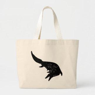 Distressed Mosasaurs Giganteus Silhouette Jumbo Tote Bag