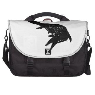 Distressed Mosasaurs Giganteus Silhouette Laptop Bag