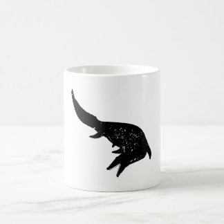 Distressed Mosasaurs Giganteus Silhouette 11 Oz Magic Heat Color-Changing Coffee Mug
