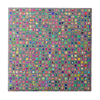 Distressed Multicolored 'Glass' Tiles Pattern