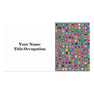 Distressed Multicolored 'Glass' Tiles Pattern Business Card