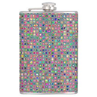 Distressed Multicolored 'Glass' Tiles Pattern Flask