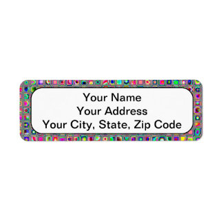 Distressed Multicolored 'Glass' Tiles Pattern Label