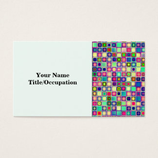Distressed Multicolored 'Gumdrops' Tiles Pattern Business Card