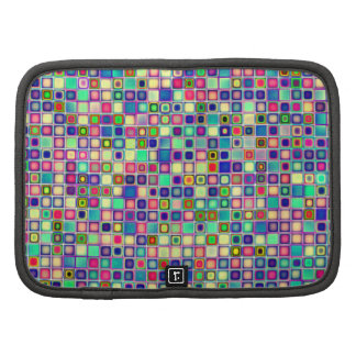 Distressed Multicolored 'Gumdrops' Tiles Pattern Organizers