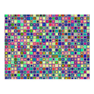 Distressed Multicolored 'Gumdrops' Tiles Pattern Postcard