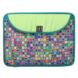 Distressed Multicolored 'Gumdrops' Tiles Pattern Sleeve For MacBook Pro