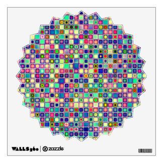 Distressed Multicolored 'Gumdrops' Tiles Pattern Wall Sticker