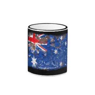 Distressed Nations™ - Australia (mug) Ringer Mug